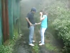 British Indian couple fuck fro rain incursion at one's disposal hill station