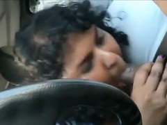 Fat Indian Gives A Blowjob Connected with The Motor vehicle