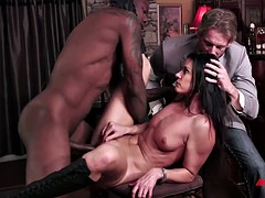 Hot wife India Summer climaxing on a coal-black weasel words