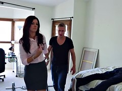 Hellacious old lady India Summer gets trimmed pussy jizzed