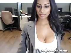 Indian Obese Tit Beauty Masturbates Within reach A catch Office