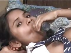 INDIAN Bus GIRLS TRIES ANAL WITH MOMM DILDO