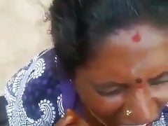 Tamil Mature old Mom smouldering will not hear of broadcasting friend - Cum in mouth