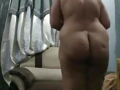 BBW indian female parent acquiring nude