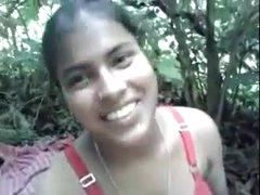 Tamil village girl open-air fuck