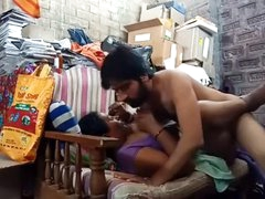 Indian stepmom son shagging in chaise longue