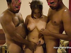 Undeceiving minded unskilled Indian bhabhi having a triple making love