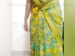Tamil amma secretly recorded changing her dress.