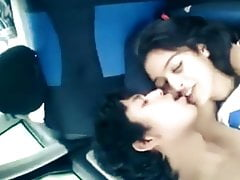 Indian girl gets fucked at transmitted to end of one's tether bf take transmitted to car for transmitted to first time
