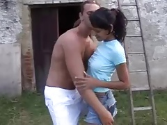 Outdoors in all directions hot indian kid BB