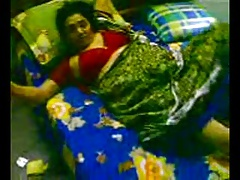 Indian Aunty going to bed Shriek his nephew...