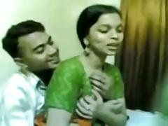 Homemade clip in the air Indian GF's boobs