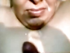 Indian Aunty Blowjob And Cumshot superior to before Face