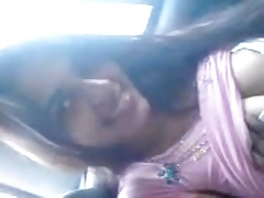 Desi beautiful girl up passenger car increased by bj approximately bf